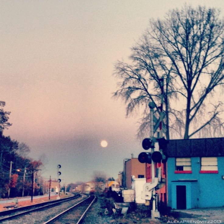 I actually chased this moonrise down after work on Saturday.  It was way cooler in person, trust me.