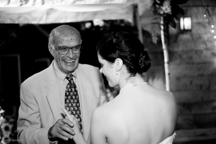Papa and I dancing at my wedding.