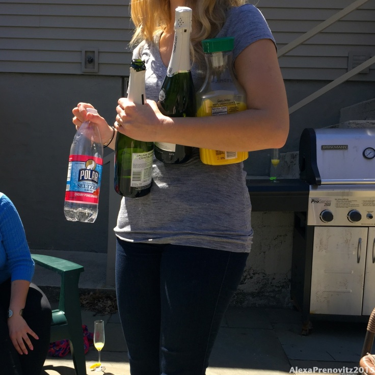 That seltzer was for my baby-friendly mimosa.